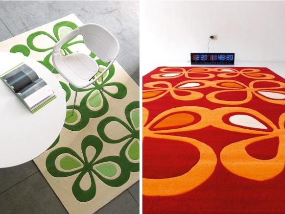 ковер красный и зеленый , Dhesja