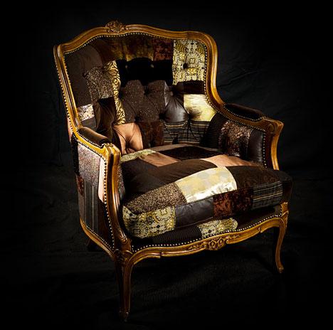 лоскутное шитье, кресло Leftovers