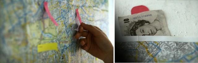карта - тайник для денег