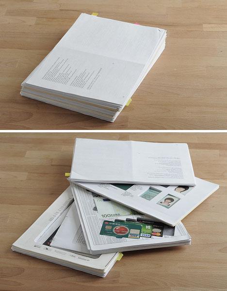 бумаги - тайники в доме