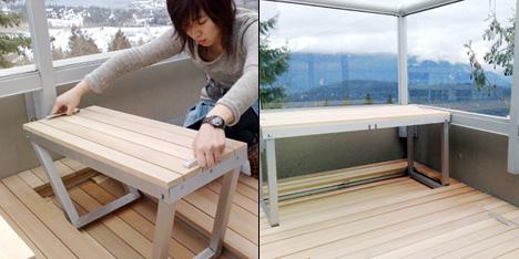 интегрированная балконная мебель Sandy Lam