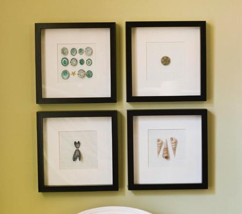 ракушки, идеи декора стен своими руками