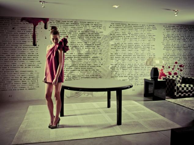 кровь, оригинальные фотообои для стен Wall&Deco