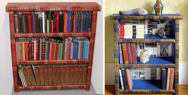 книжные стеллажи своими руками из книг