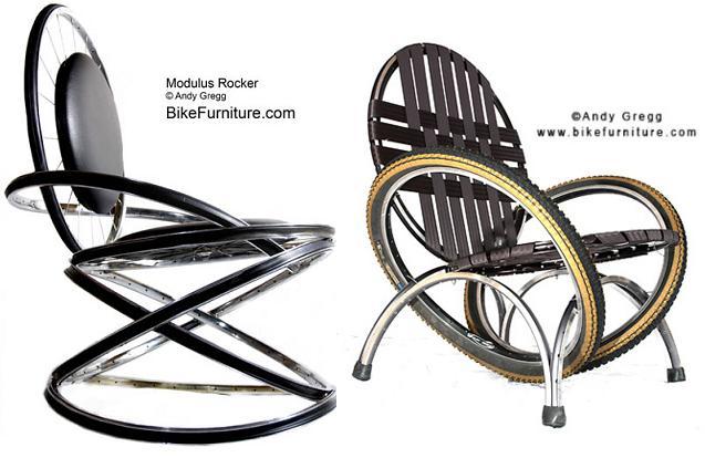 стулья- мебель из вело деталей
