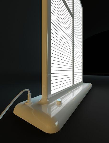 настольная лампа - окно