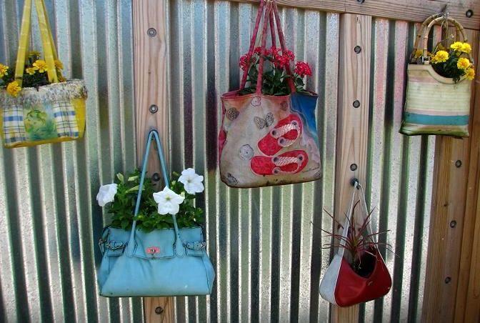 сумки как кашпо