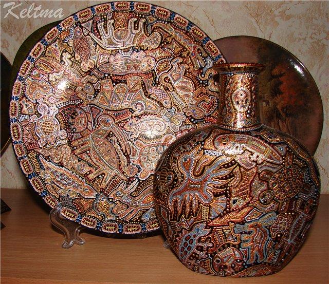 художественная роспись контурными красками, keltma