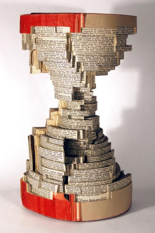 песочные часы, книжное искусство, Brian Dettmer