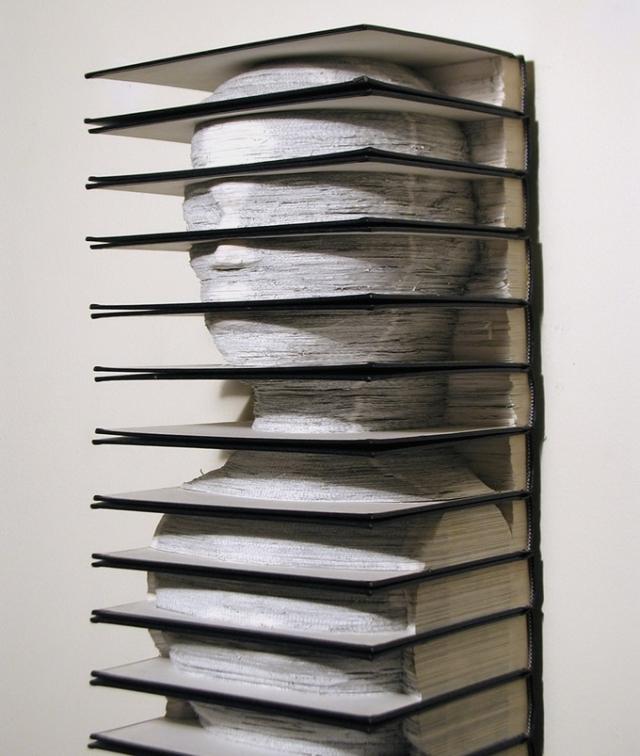скульптура, книжное искусство, Brian Dettmer