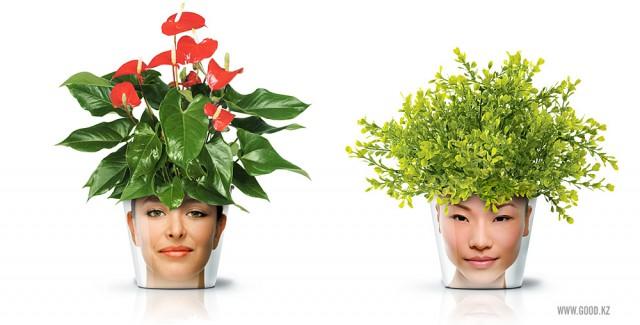 горшки для растений FACEPOT