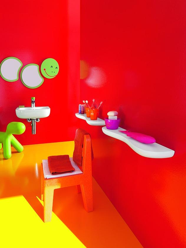 интерьер ванной для детей Florakids, Laufen