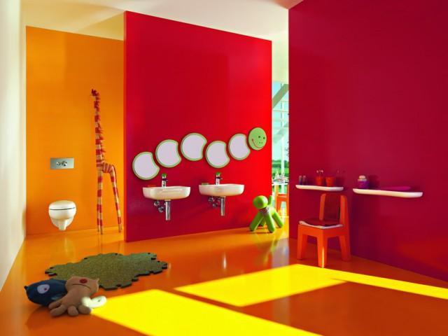 интерьер детской ванной комнаты Florakids от Laufen