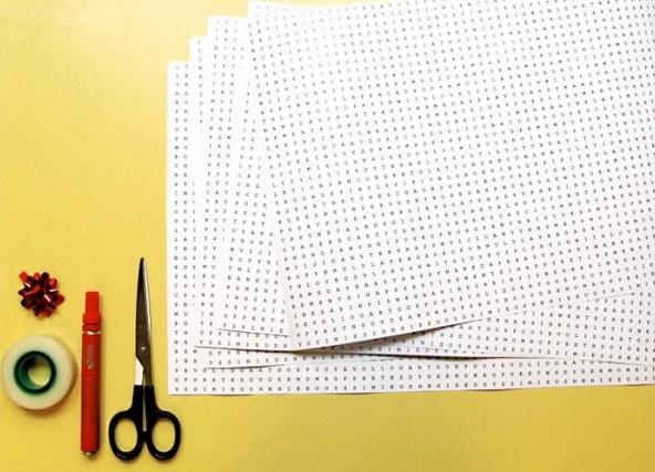 упаковочная бумага для подарков World Puzzle