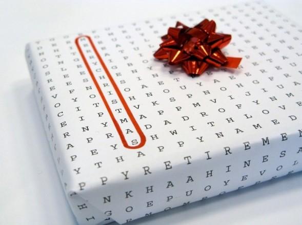 упаковочная бумага для подарков Word Puzzle