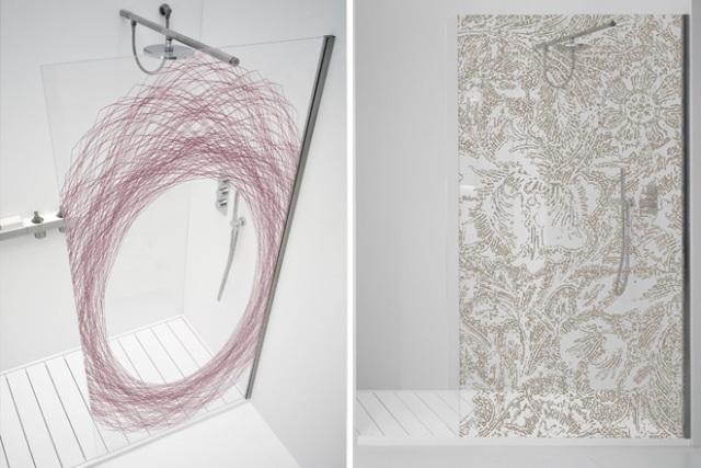 стеклянные душевые двери, Nest и WallPaper