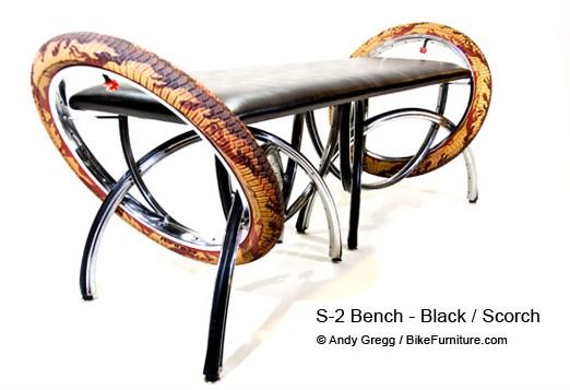 скамейка из велодеталей