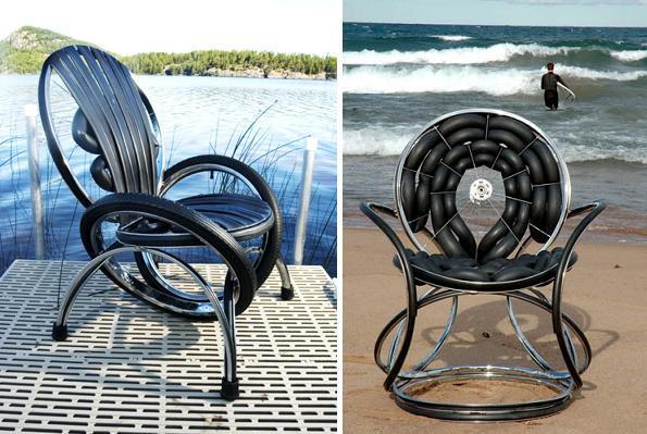 стулья и кресла от bike furniture design