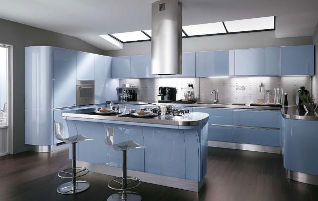 холодный интерьер кухни, Tess, Scavolini