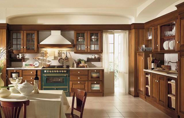 кухня Baltimore из ореха, Scavolini