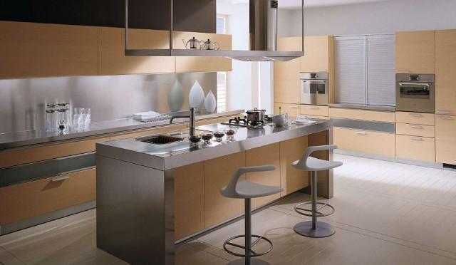 дубовая кухня со стальной отделкой, Tess, Scavolini