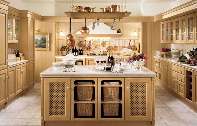 кухня Baltimore из ели, цвет беж, Scavolini