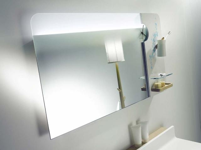зеркало с полочками для ванной, Delpha
