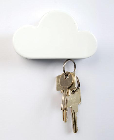 Облачко - магнитная ключница на стену