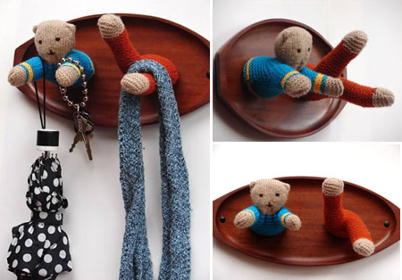 крючки для ключей - мишка Тедди