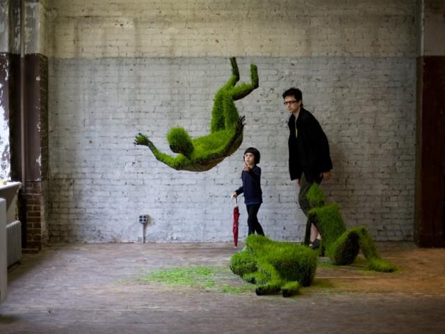 зеленые скульптуры mathilde roussel-giraudy
