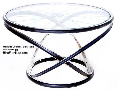 стол из велосипедных колес bike furniture