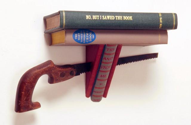 полка своими руками из старых книг