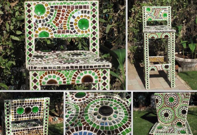 мозаика своими руками на стуле