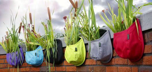 сумки - горшки для растений