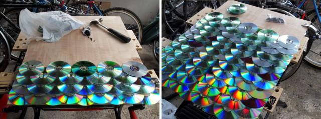 укладка дисков как черепицы