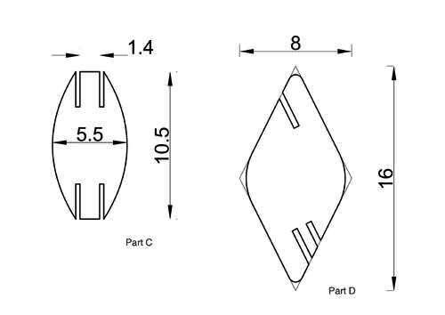 схема деталей A и B для ширмы