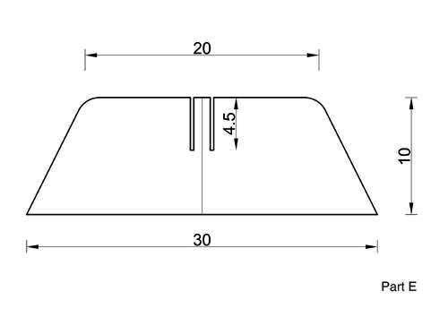 схема деталей E для ширмы