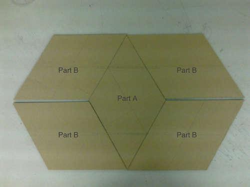 соединение деталей ширмы