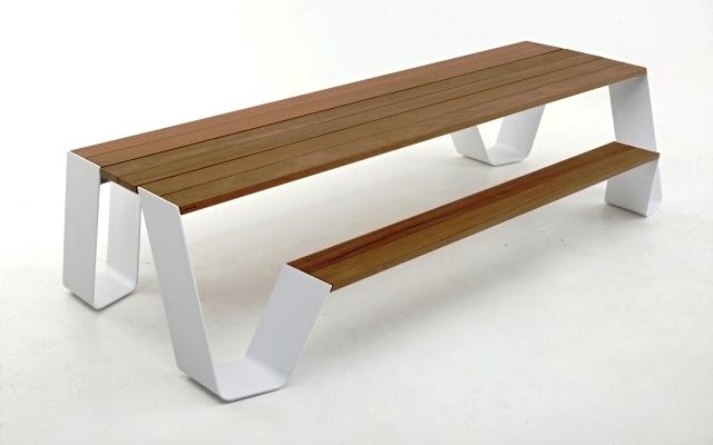 стол и лавки Hopper без тента