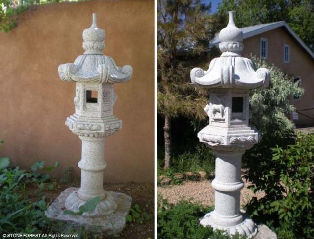 японские каменные фонари Kasuga Lantern tachi-gata