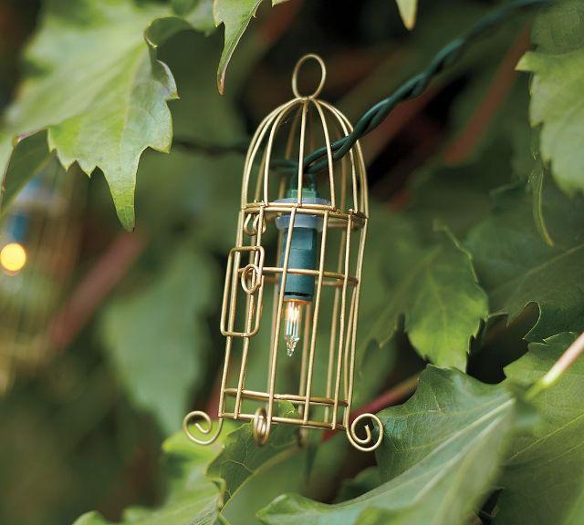 Wire Birdcage гирлянды