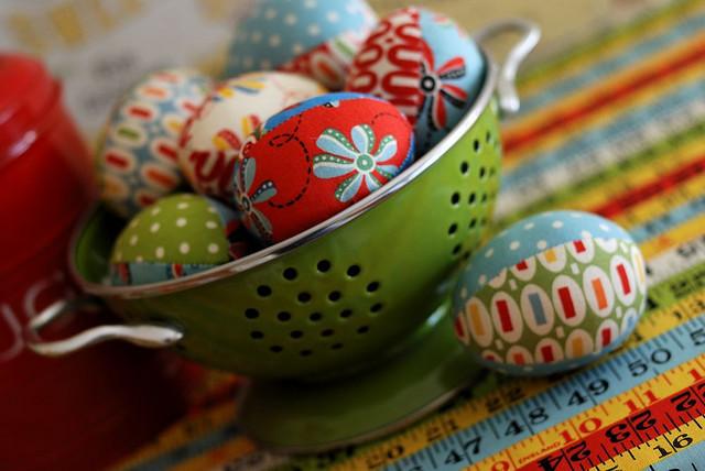 пасхальные яйца из ткани своими руками