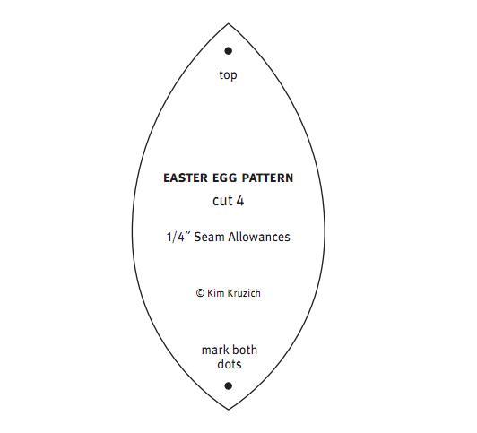 выкройка для пасхального текстильного яйца