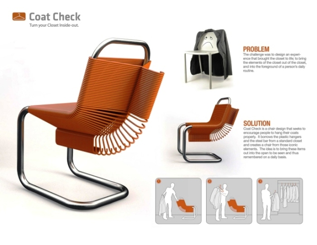 стул из вешалок