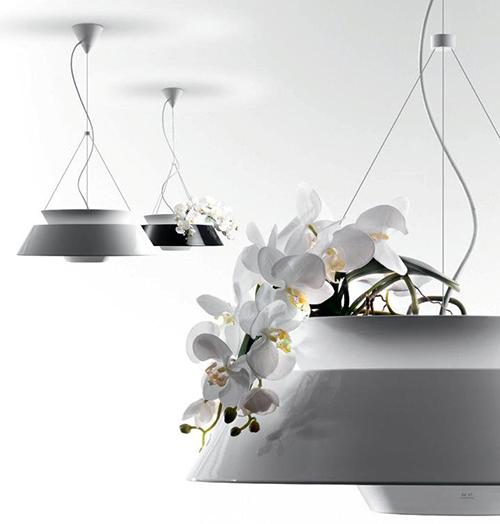 люстра - ваза с орхидеями