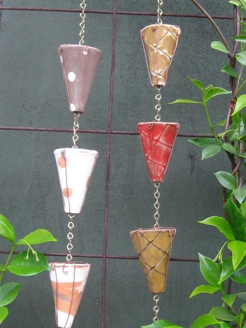 цепи дождя Colorful Ceramic Rain Chain