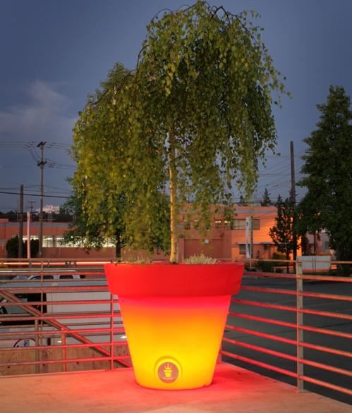 светодиодный горшок для деревьев