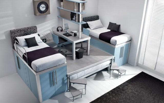 кровати - чердаки для детских комнат