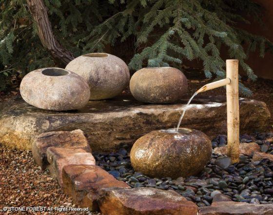 каменные садовые чаши Ishi