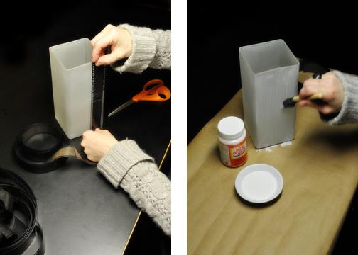 светильник с фотопленкой - мастер-класс